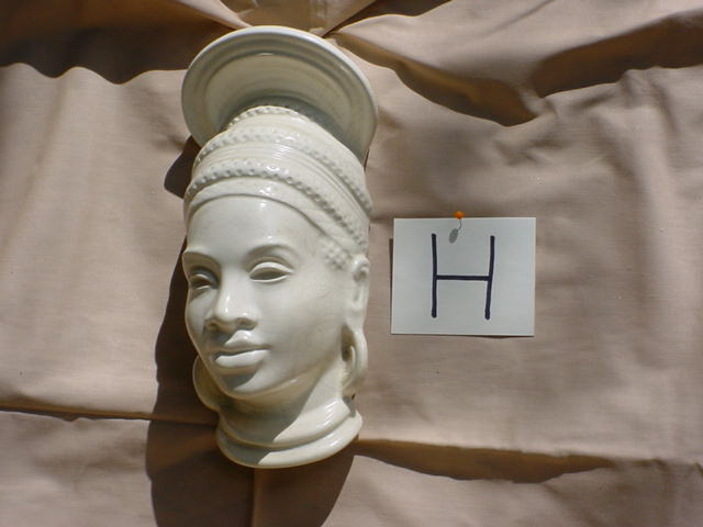 Woman Face wall decor by Ross. 1950's               Afro/American Collection